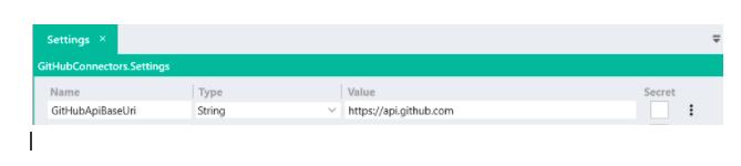 Github API settings