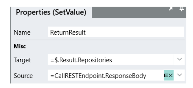 HTTP response settings